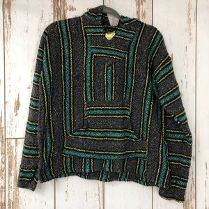 Mexican Woven Hoodie, Size Large